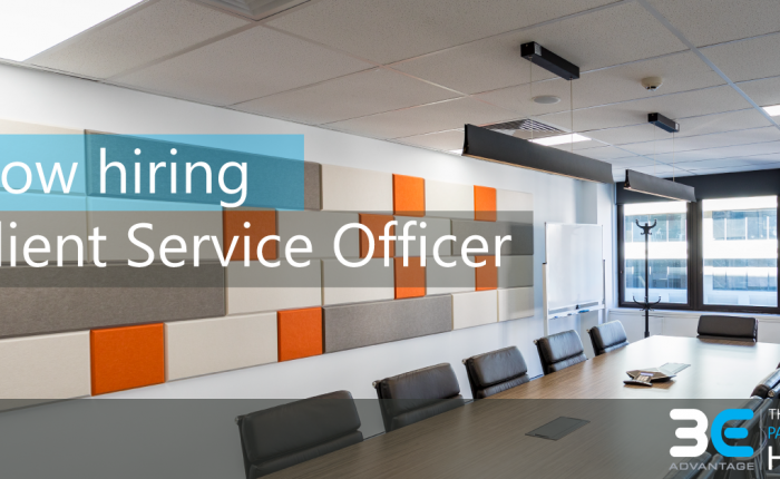 Now hiring, Client Service Officer